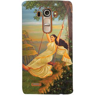 Oyehoye Meera Mythological Art Printed Designer Back Cover For LG G4 H818N Mobile Phone - Matte Finish Hard Plastic Slim Case