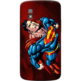 Oyehoye Superman Printed Designer Back Cover For LG Google Nexus 4 Mobile Phone - Matte Finish Hard Plastic Slim Case