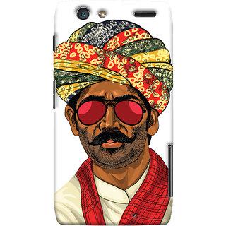 Oyehoye Desi Swag Quirky Printed Designer Back Cover For Motorola Razr Maxx Mobile Phone - Matte Finish Hard Plastic Slim Case