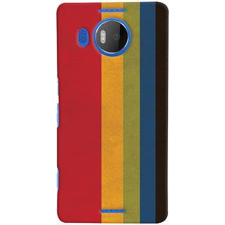 Oyehoye Colourfull Pattern Style Printed Designer Back Cover For Microsoft Lumia 950 XL Mobile Phone - Matte Finish Hard Plastic Slim Case