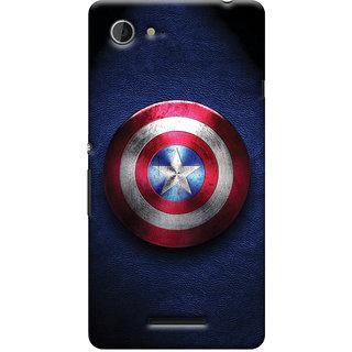 Oyehoye Captain America Printed Designer Back Cover For Sony Xperia E3 Mobile Phone - Matte Finish Hard Plastic Slim Case