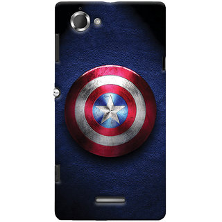 Oyehoye Captain America Printed Designer Back Cover For Sony Xperia L Mobile Phone - Matte Finish Hard Plastic Slim Case
