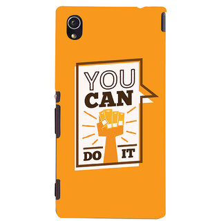 Oyehoye Motivational Quote Printed Designer Back Cover For Sony Xperia M4 Aqua/Dual Sim Mobile Phone - Matte Finish Hard Plastic Slim Case