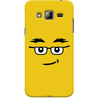 Oyehoye Quirky Smiley Expression Printed Designer Back Cover For Samsung Galaxy J3 (2016) Mobile Phone - Matte Finish Hard Plastic Slim Case