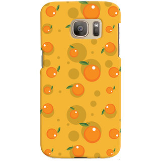 Oyehoye Fruity Pattern Style Printed Designer Back Cover For Samsung Galaxy S7 Edge Mobile Phone - Matte Finish Hard Plastic Slim Case