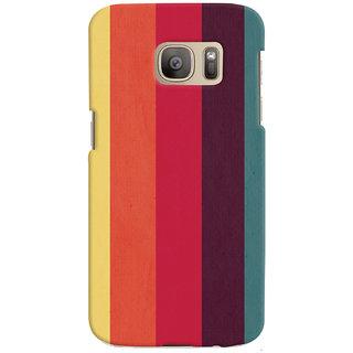 Oyehoye Colourfull Pattern Style Printed Designer Back Cover For Samsung Galaxy S7 Edge Mobile Phone - Matte Finish Hard Plastic Slim Case