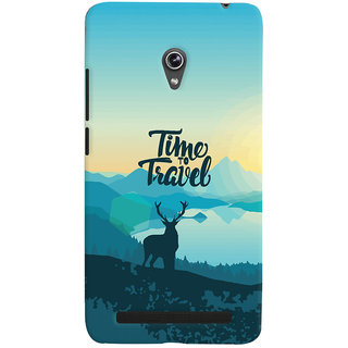 Oyehoye Travel Quote Travellers Choice Printed Designer Back Cover For Asus Zenfone 6 Mobile Phone - Matte Finish Hard Plastic Slim Case
