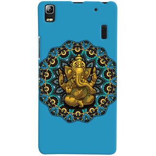 Oyehoye Lord Ganesha Ganpati Devotional Printed Designer Back Cover For Lenovo A7000 Mobile Phone - Matte Finish Hard Plastic Slim Case