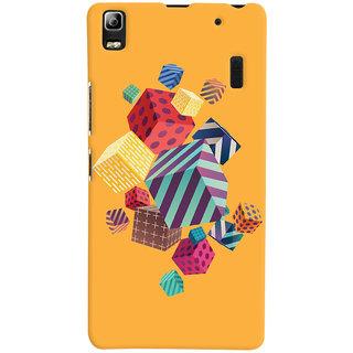 Oyehoye Abstract Style Modern Art Printed Designer Back Cover For Lenovo A7000 Mobile Phone - Matte Finish Hard Plastic Slim Case