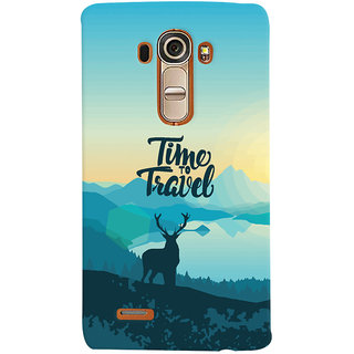 Oyehoye Travel Quote Travellers Choice Printed Designer Back Cover For LG G4 H818N Mobile Phone - Matte Finish Hard Plastic Slim Case