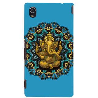 Oyehoye Lord Ganesha Ganpati Devotional Printed Designer Back Cover For Sony Xperia M4 Aqua - Not Dual Mobile Phone - Matte Finish Hard Plastic Slim Case