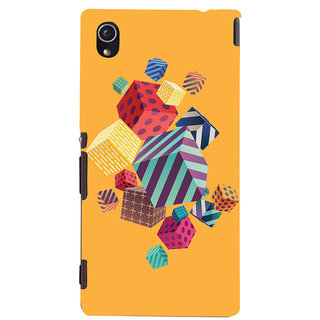 Oyehoye Abstract Style Modern Art Printed Designer Back Cover For Sony Xperia M4 Aqua - Not Dual Mobile Phone - Matte Finish Hard Plastic Slim Case