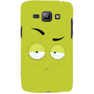 Oyehoye Smiley Expression Printed Designer Back Cover For Samsung Galaxy J1 (2016 Edition) Mobile Phone - Matte Finish Hard Plastic Slim Case