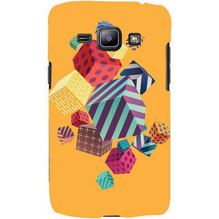 Oyehoye Abstract Style Modern Art Printed Designer Back Cover For Samsung Galaxy J1 (2016 Edition) Mobile Phone - Matte Finish Hard Plastic Slim Case