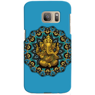 Oyehoye Lord Ganesha Ganpati Devotional Printed Designer Back Cover For Samsung Galaxy S7 Edge Mobile Phone - Matte Finish Hard Plastic Slim Case