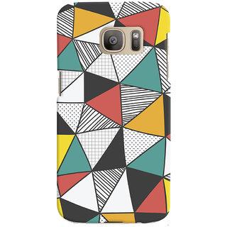 Oyehoye Abstract Style Modern Art Printed Designer Back Cover For Samsung Galaxy S7 Edge Mobile Phone - Matte Finish Hard Plastic Slim Case