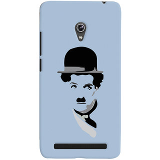 Oyehoye Charlie Chaplin Minimal Style Printed Designer Back Cover For Asus Zenfone 6 Mobile Phone - Matte Finish Hard Plastic Slim Case