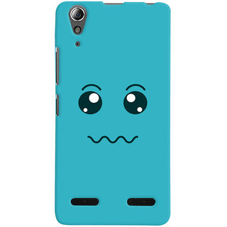 Oyehoye Smiley Expressions Style Printed Designer Back Cover For Lenovo A6000 Mobile Phone - Matte Finish Hard Plastic Slim Case