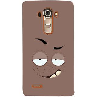 Oyehoye Smiley Drunk or Tipsy Expression Printed Designer Back Cover For LG G4 H818N Mobile Phone - Matte Finish Hard Plastic Slim Case