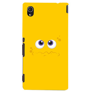 Oyehoye Smiley Expressions Style Printed Designer Back Cover For Sony Xperia M4 Aqua - Not Dual Mobile Phone - Matte Finish Hard Plastic Slim Case
