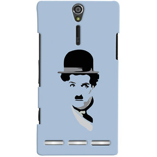 Oyehoye Charlie Chaplin Minimal Style Printed Designer Back Cover For Sony Xperia SL Mobile Phone - Matte Finish Hard Plastic Slim Case