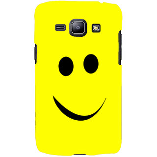 Oyehoye Smiley Expressions Style Printed Designer Back Cover For Samsung Galaxy J1 (2016 Edition) Mobile Phone - Matte Finish Hard Plastic Slim Case