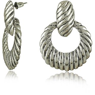 Circles of Life Silver Earrings