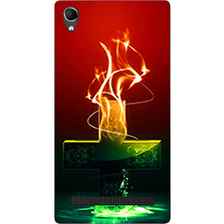 Cell First Designer Back Cover For Intex Aqua Power Plus-Multi Color sncf-3d-AquaPowerPlus-529