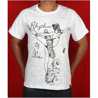 """Ballerina"" White T Shirt By Cotton Candy"