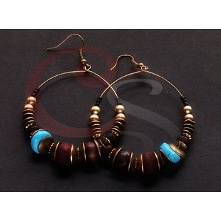 Copper Color Ethnic Earrings