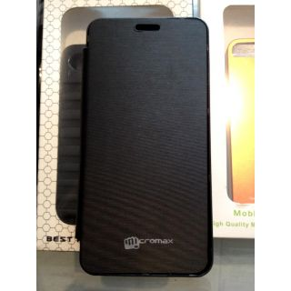 Micromax A67 Bolt Flip Cover Black available at ShopClues for Rs.220