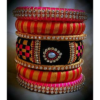 thread bangles for women by Akshayas Silk Thread Bangles