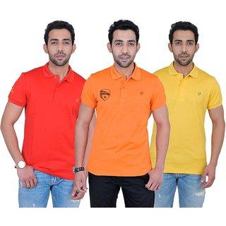 Fabnavitas Mens Slim Fit Polo T-shirt Pack of 3