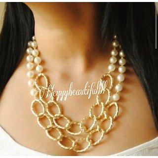 Multi Layered Chain Necklace For Women And Girls