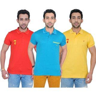 Fabnavitas Polo Neck Cotton T-shirt Pack of 3