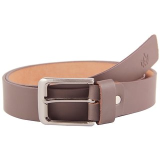 Tom Venice Matte Brown Leather Belt.