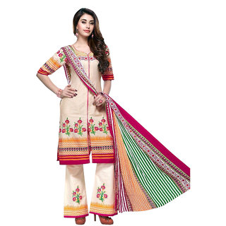 Nayra Creations Printed Cotton Unstiched Suits (NC1219)