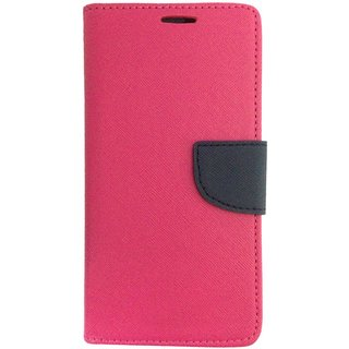 Colorcase Wallet Flip Cover Case for Samsung Galaxy J3 Pro - Pink