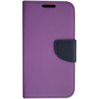 Colorcase Wallet Flip Cover Case for Vivo Y11 - Purple