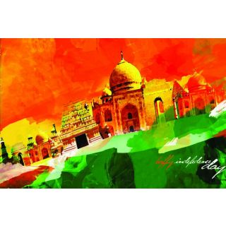 Canvas Painting Patriotic Print Indian Independence Day