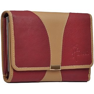 Hawai Women Casual And Formal Multicolor Genuine Leather Wallet (11 Card Slots)
