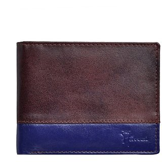 Hawai Men Casual And Formal Multicolor Genuine Leather Wallet (3 Card Slots)