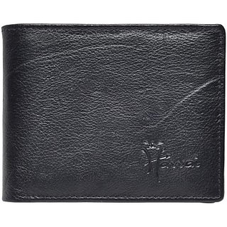 Hawai Men Casual And Formal Black Genuine Leather Wallet (3 Card Slots)