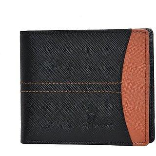 Hawai Men Black Genuine Leather Wallet (10 Card Slots)