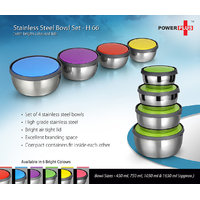 H66 - Power Plus Stainless Steel Bowl Set (Set Of 4)