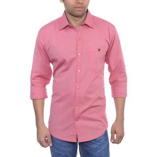 Studio Nexx Mens Pink Cotton Casual Shirt