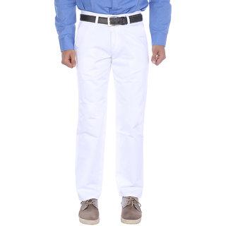 Studio Nexx Mens White cotton chinos trouser