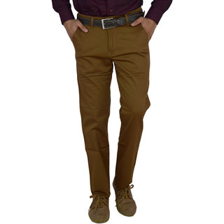 Studio Nexx Mens Slim Fit Mustard Trouser