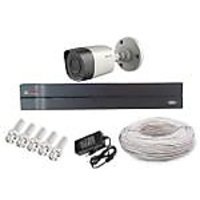 Cp Plus 01Bullet Camera  + 4 Channel Dvr + Connectors + Power Supply+ 90 Meter Wires Combo