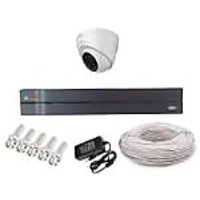 Cp Plus 1 Dome Camera  +4 Channel Dvr + Connectors + Power Supply + 90 Meter Wires Combo